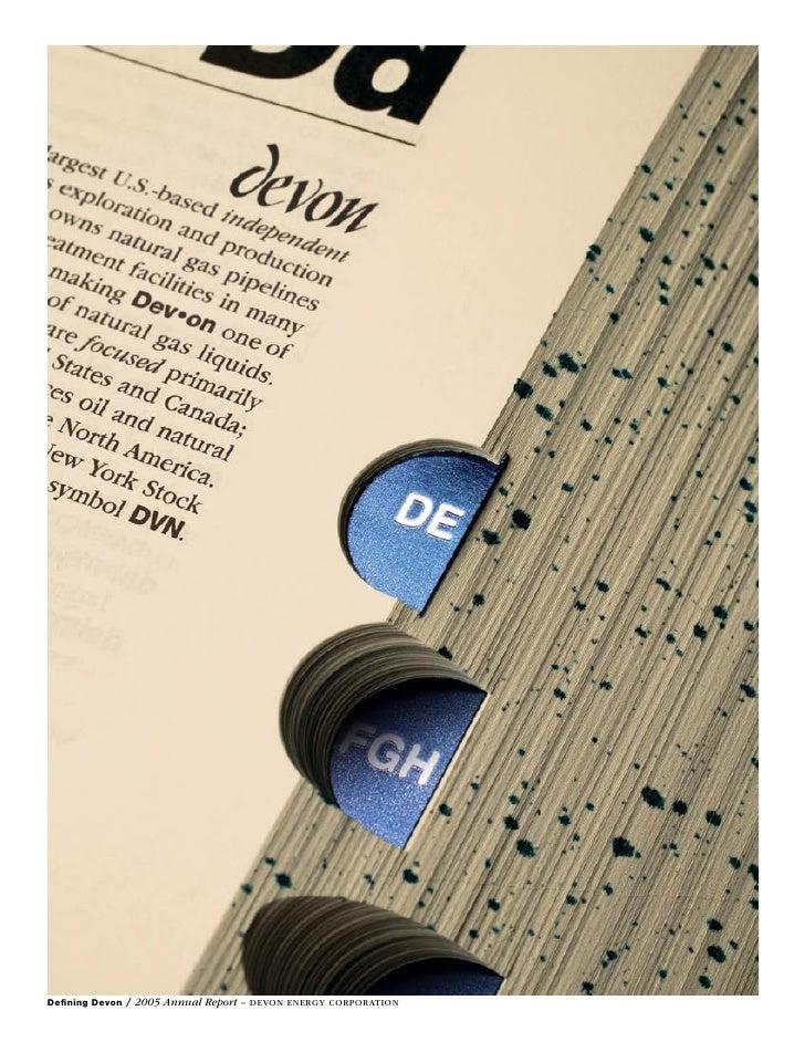 Defining Devon / 2005 Annual Report – Devon energy Corporation