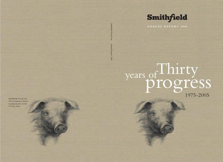 smithfield food  2005 AR