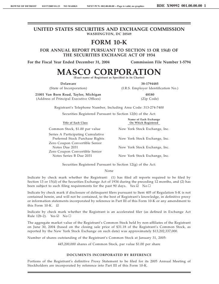 Masco10-K2004