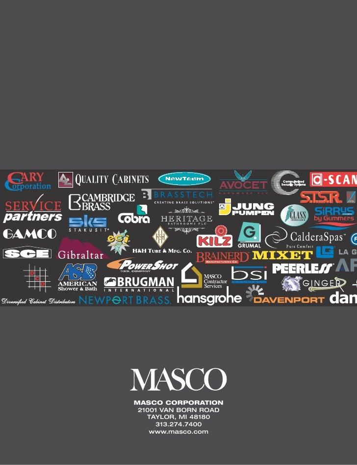 Masco Annual Report 2002