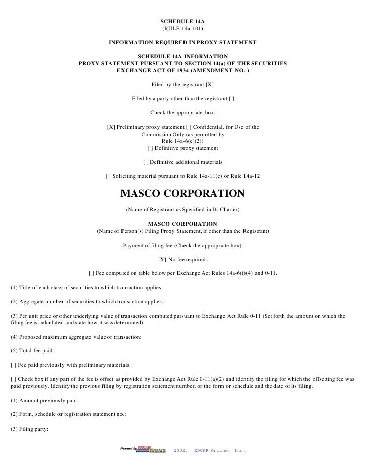 masco Proxy Statements 1998-