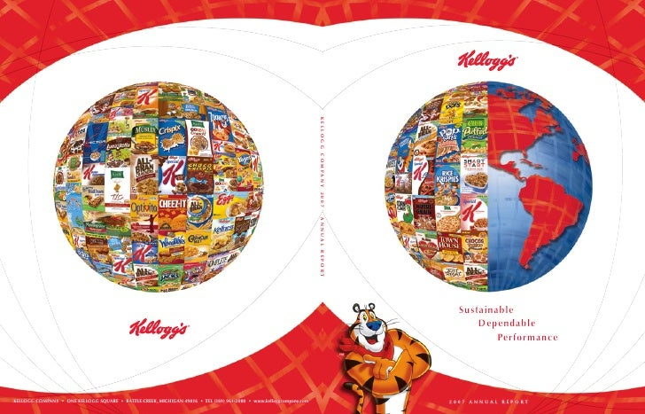 kellogg annual reports 2007