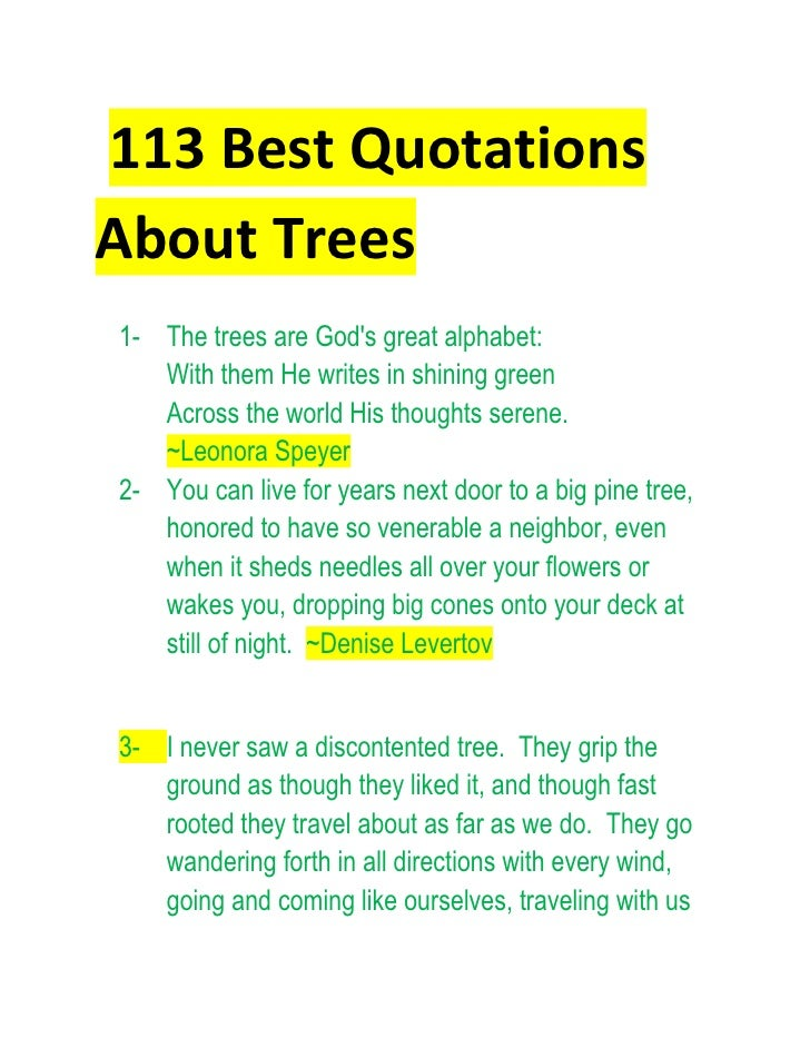 trees advantages essay