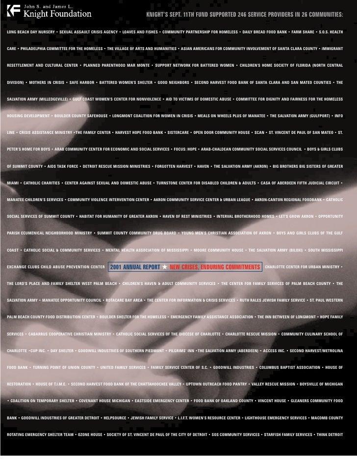 2001 KF Annual Report