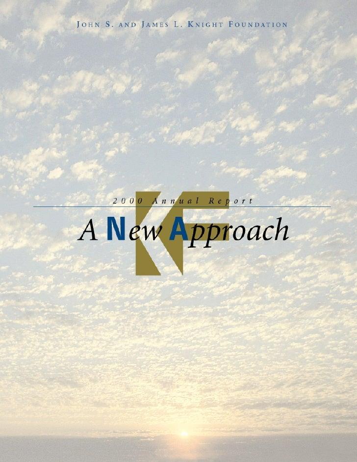 2000 KF Annual Report