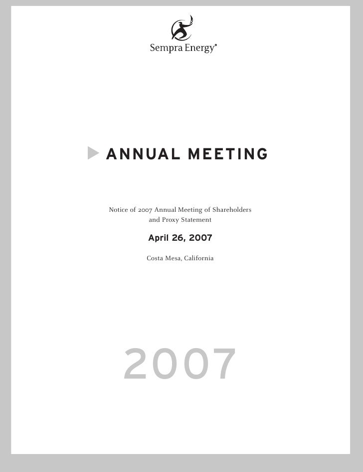 ANNUAL MEETING   Notice of 2007 Annual Meeting of Shareholders              and Proxy Statement              April 26, 200...