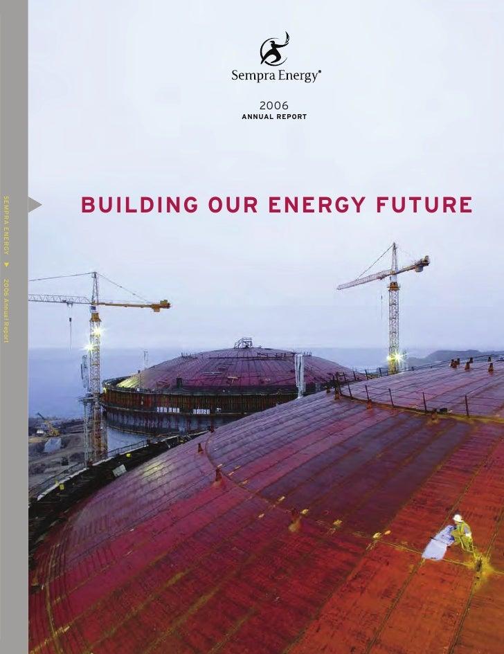 sempra energy 2006 Annual Report