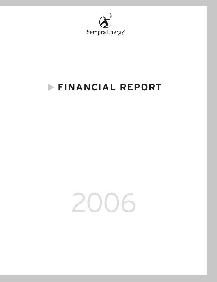 FINANCIAL REPORT       2006