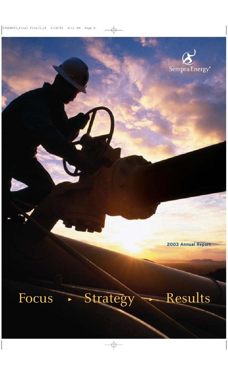 sempra energy 2003 Annual Report
