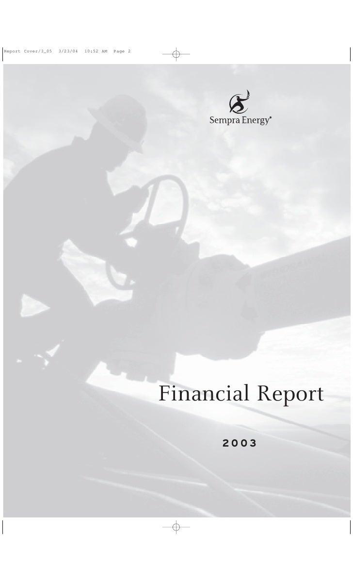 Financial Report       2003