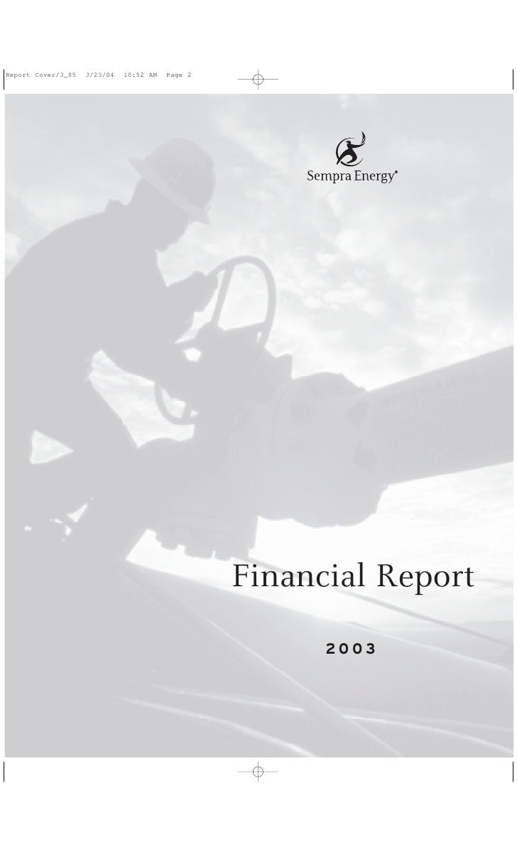 sempra energy 2003 Financial Report