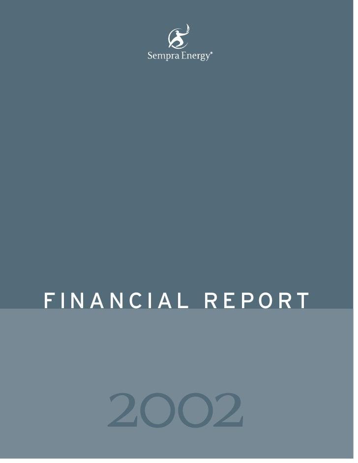 sempra energy 2002 Financial Report