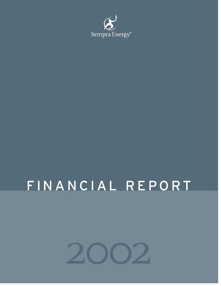 sempra energy 2002 Financial Report