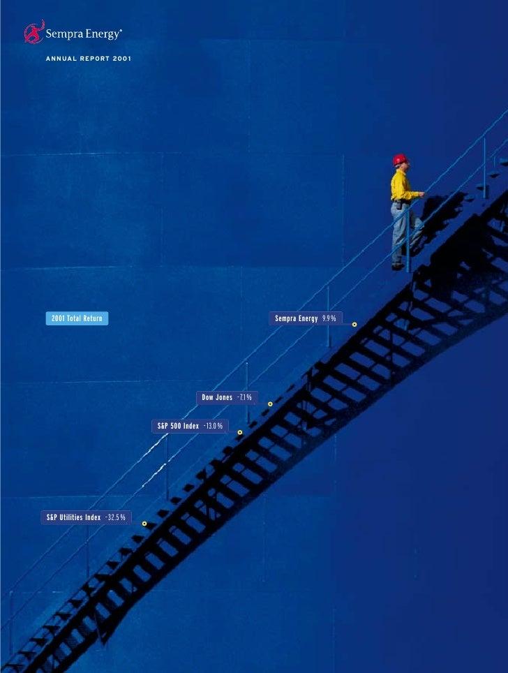 ANNUAL REPORT 200 1                                                                   Sempra Energy 9.9 %  2001 Total Retu...