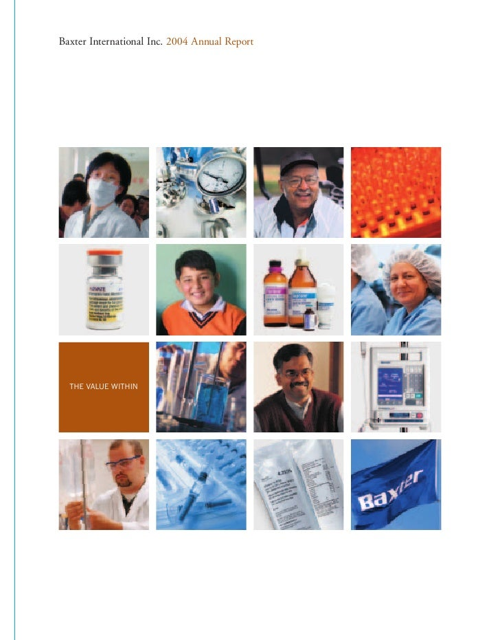 Baxter International Inc. 2004 Annual Report       THE VALUE WITHIN
