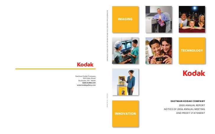 IMAGING                             TECHNOLOGY                      EASTMAN KODAK COMPANY                        2005 ANNU...