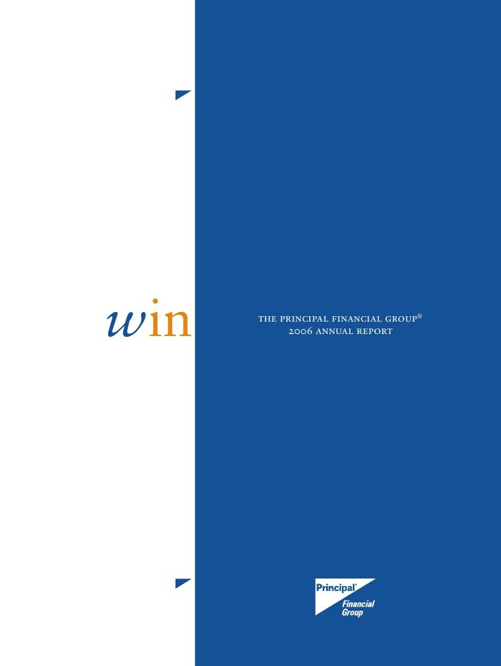 principal financial 2006 annual report