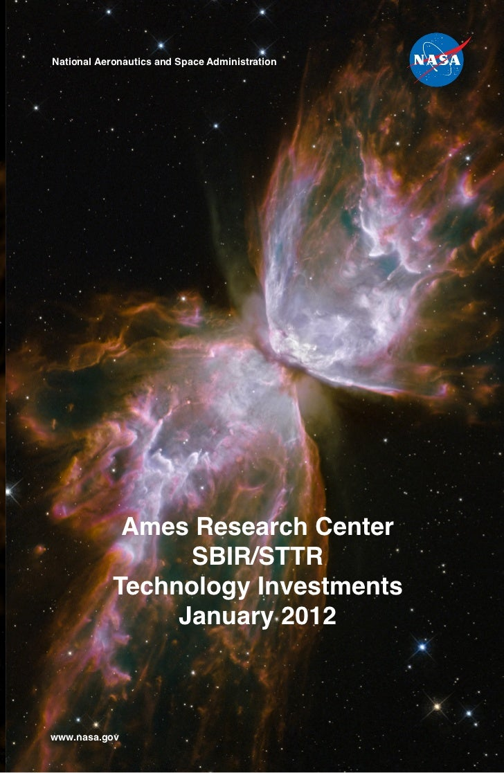National Aeronautics and Space Administration             Ames Research Center                  SBIR/STTR            Techn...