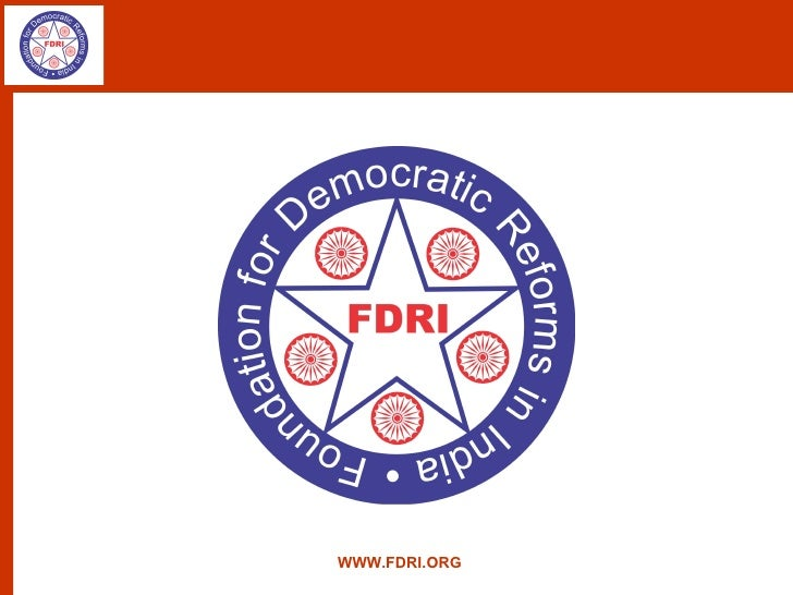 Foundation for Democratic Reforms in India