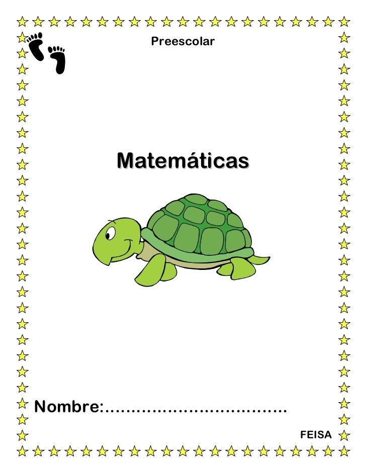 Preescolar             MatemáticasNombre:...................................                                             F...