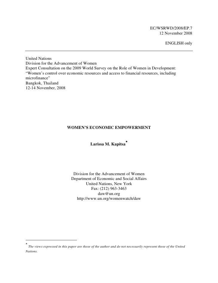 EC/WSRWD/2008/EP.7                                                                                           12 November 2...