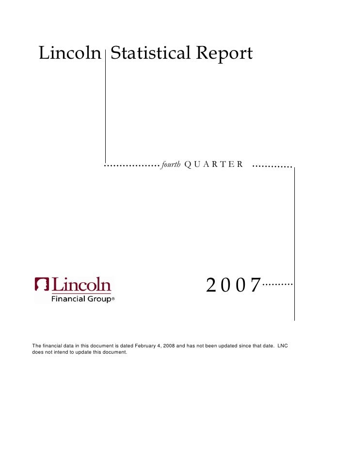 lincoln national stat4q07