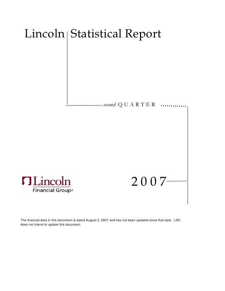 lincoln national stat2q07