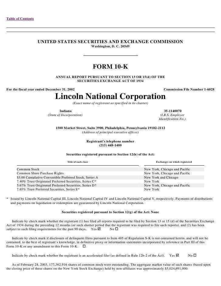 lincoln national 10k02