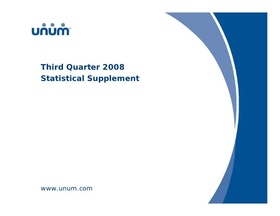 unum group   3Q 08_Stat_Supp