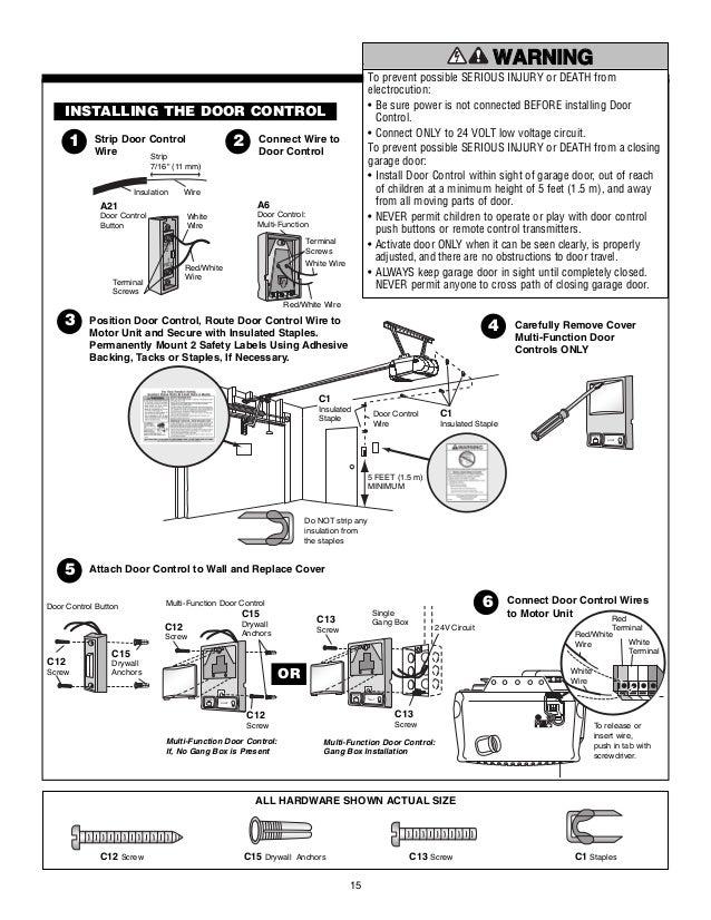 Chamberlain garage door opener manual for Garage door opener motor runs but door does not open