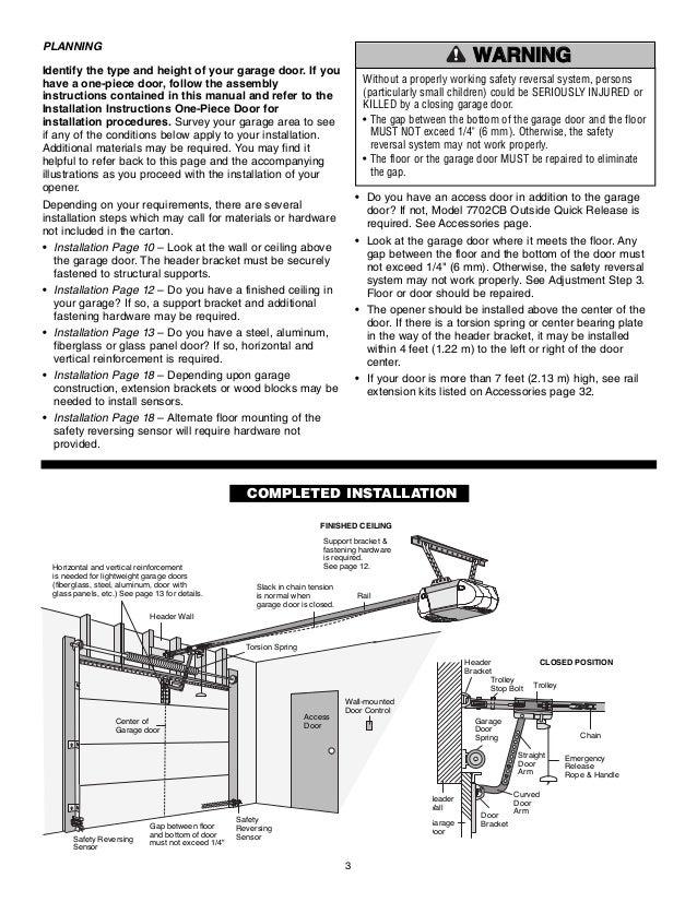 Garage door opener installation instructions spillo caves - Install chamberlain garage door opener ...