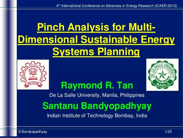 4th International Conference on Advances in Energy Research (ICAER-2013)  Pinch Analysis for MultiDimensional Sustainable ...