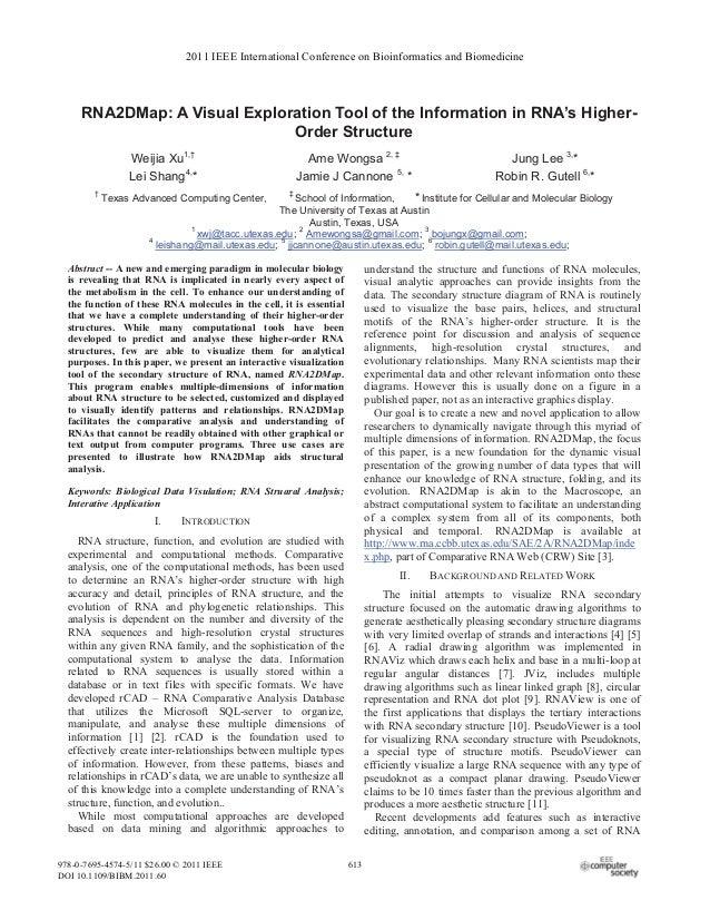 Gutell 115.rna2dmap.bibm11.pp613-617.2011