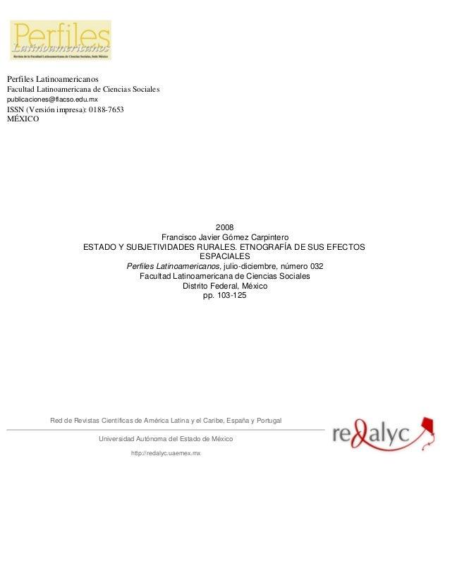 Perfiles Latinoamericanos Facultad Latinoamericana de Ciencias Sociales publicaciones@flacso.edu.mx ISSN (Versión impresa)...