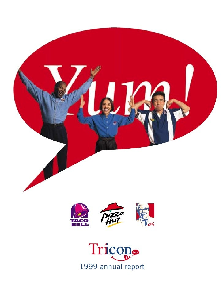 yum brands annual reports 1999