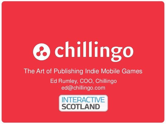 Digital 2013, Ed Rumley, Chillingo