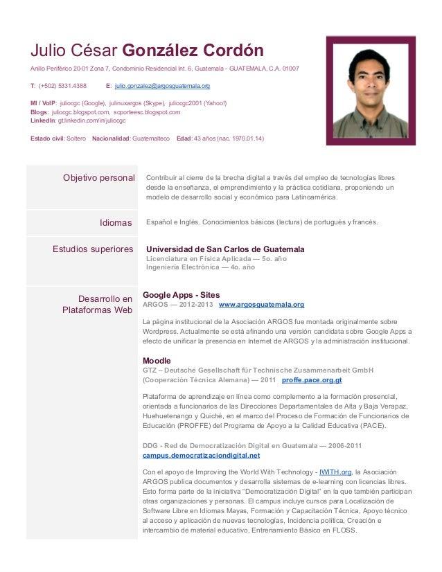 JulioCésarGonzálezCordón AnilloPeriférico2001Zona7,CondominioResidencialInt.6,GuatemalaGUATEMALA,C.A.010...