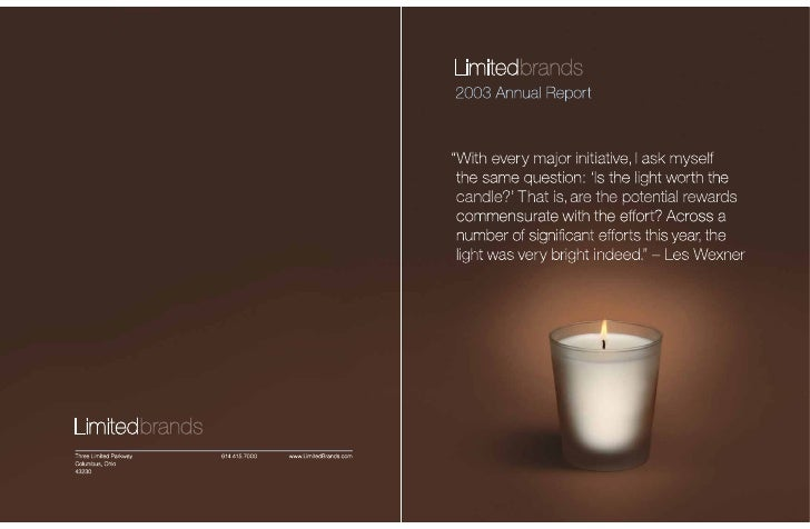 limited brands annual report_2003_letter