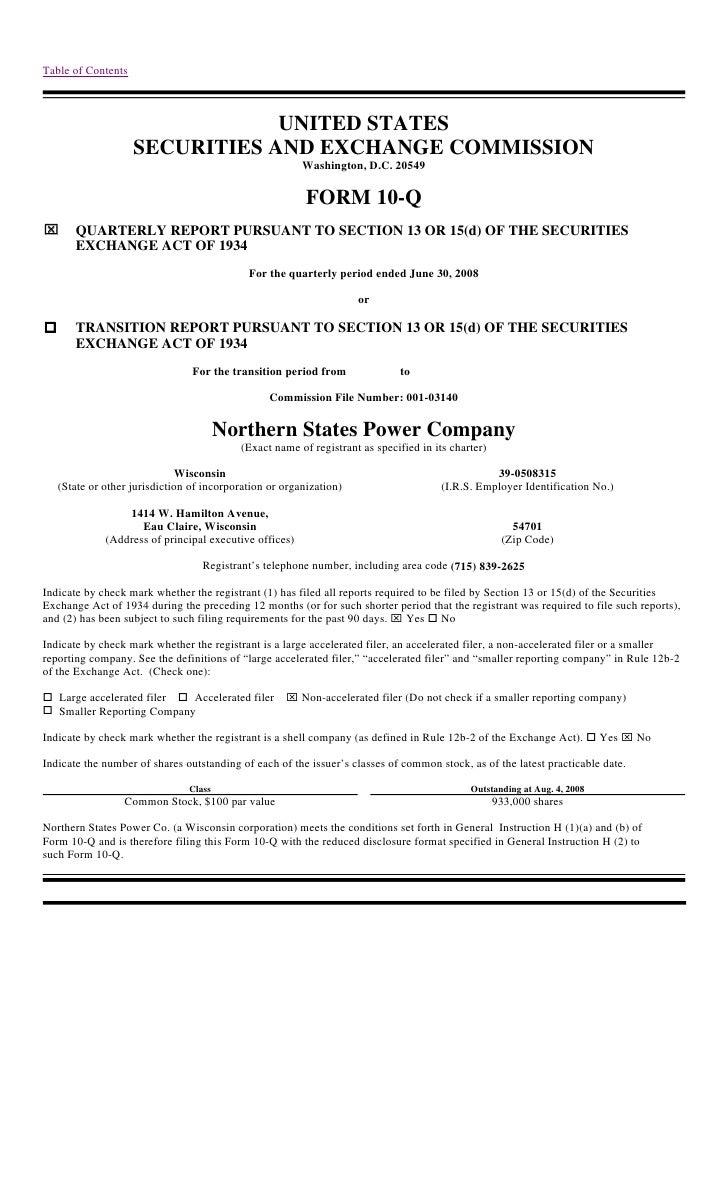 xcel energy NSP-WI_Q210-Q2008