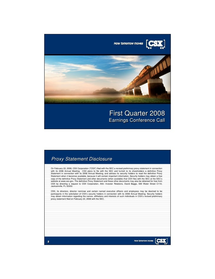 First Quarter 2008                                                                  Earnings Conference Call 1 1         P...