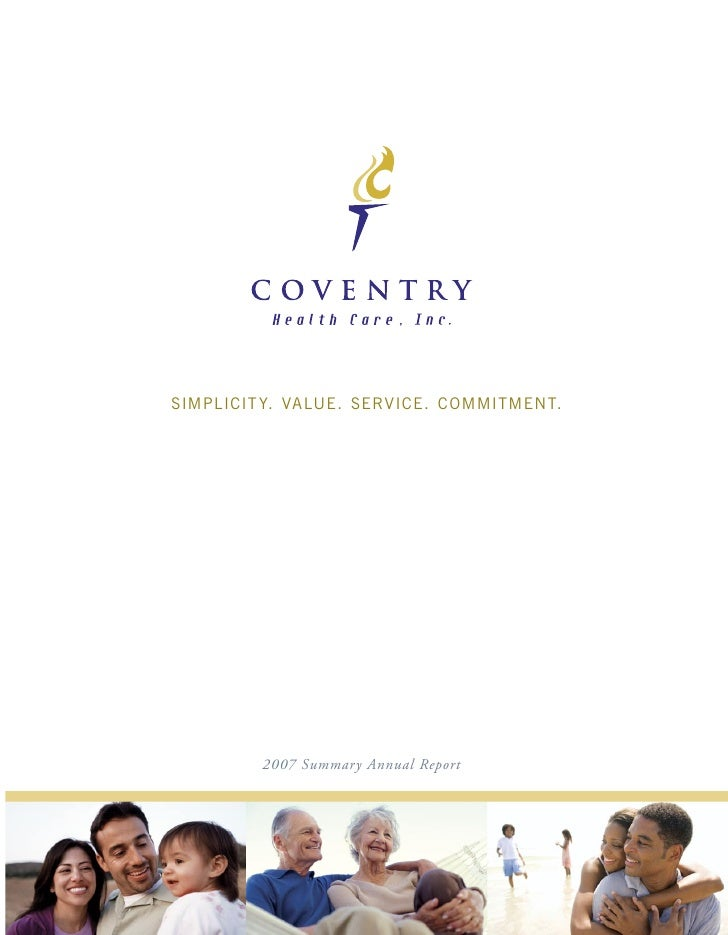coventry health care annual reports 2007