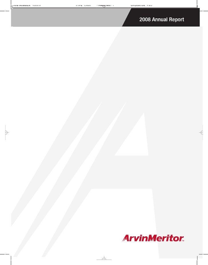 Arvinmeritor ARM_2008_Annual_Report
