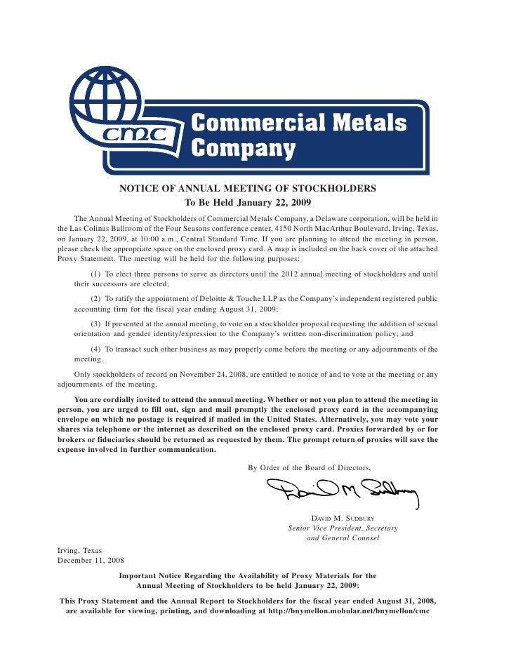 commercial metals A382A553-1603-4192-A832-05877258332A_2009_Proxy