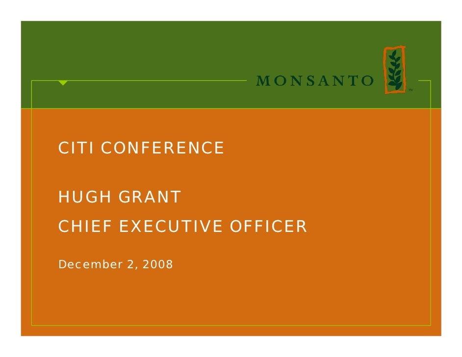 CITI CONFERENCE  HUGH GRANT CHIEF EXECUTIVE OFFICER  December 2, 2008