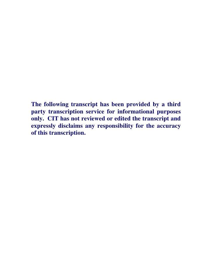 CIT_Q4_2006_Transcript