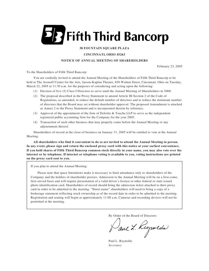 fifth third bancorp  2005