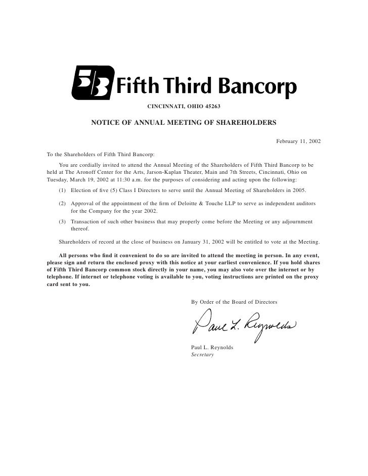 fifth third bancorp  2002