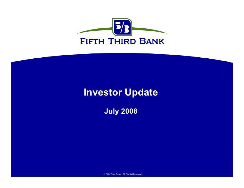 fifth third bancorp  InvestorPresentationv40731
