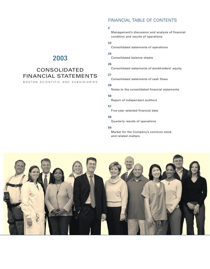 FINANCIAL TABLE OF CONTENTS                                      2                                          Management's d...