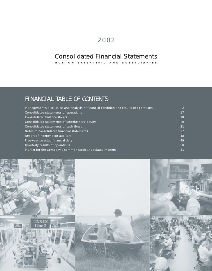 2002                     Consolidated Financial Statements                     BOSTON         SCIENTIFIC           AND    ...